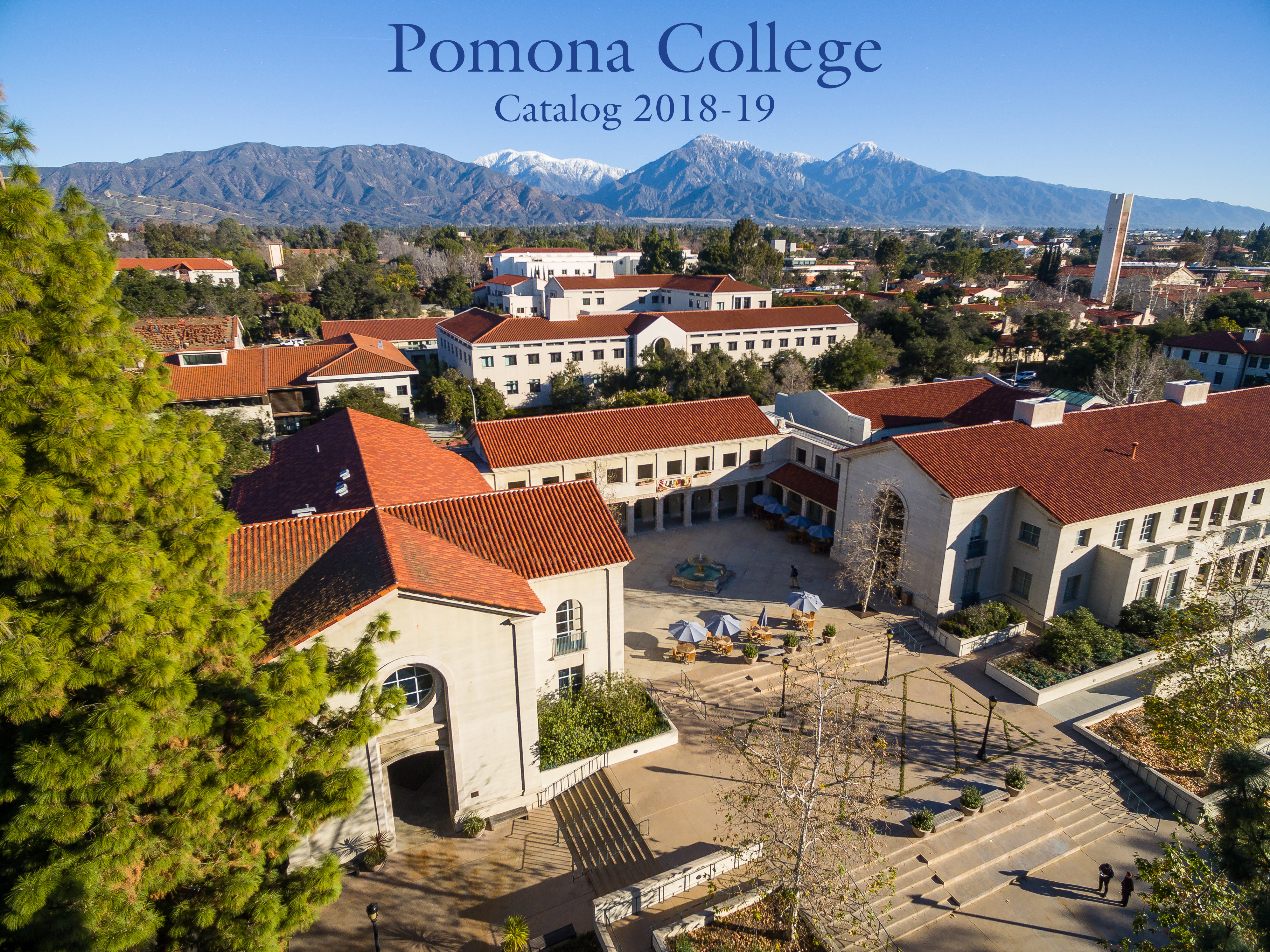 Pomona College Catalog 2018-19