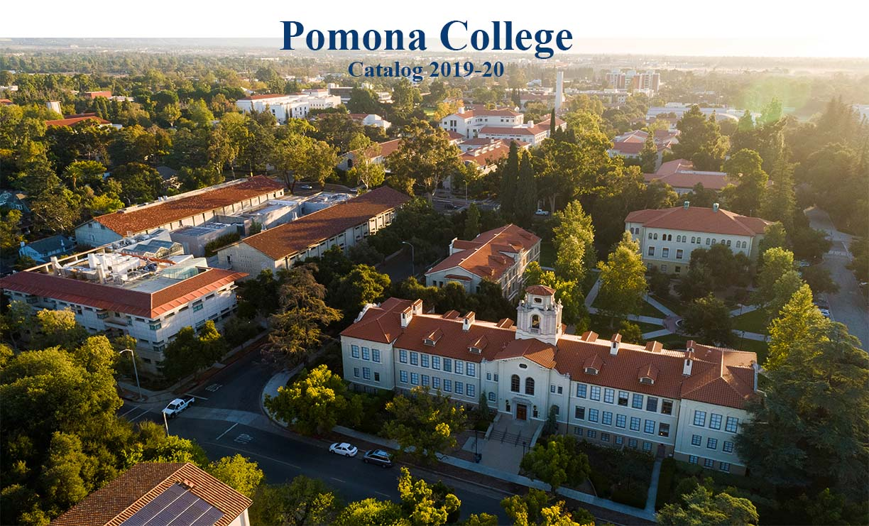 Pomona College Catalog 2019-20