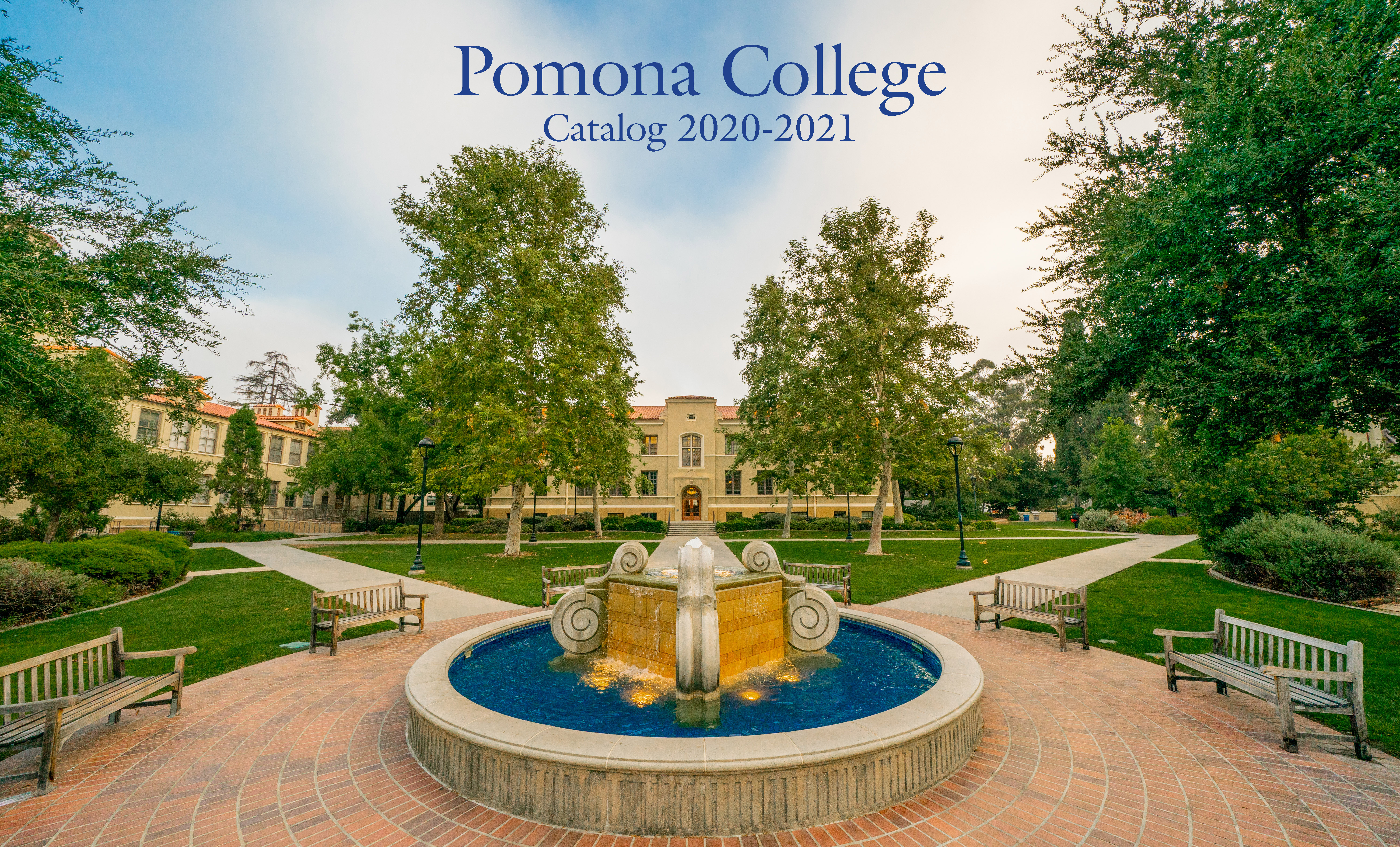 Pomona College Catalog 2020-2021